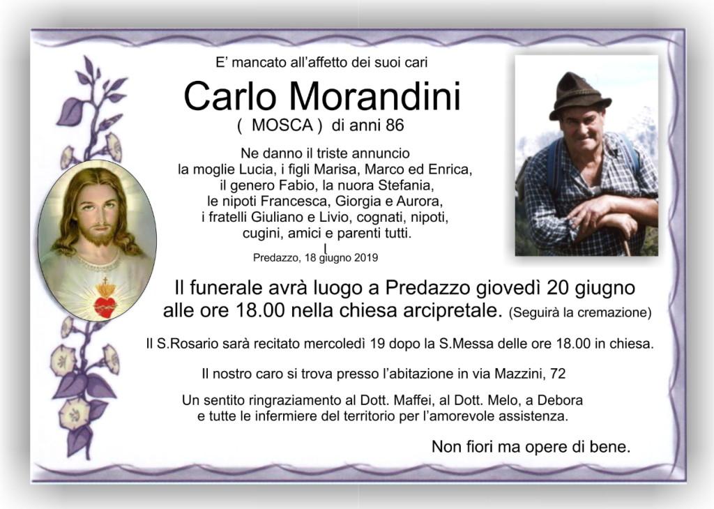 carlo morandini 1024x730 Avvisi Parrocchie 16 23 giugno e necrologi