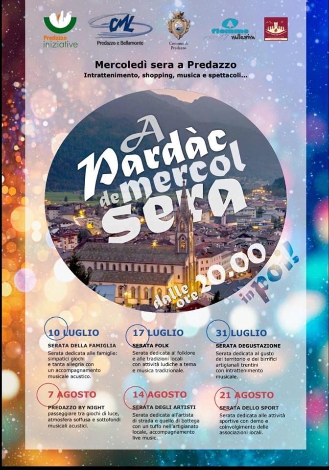 a pardac de mercol sera 2019 Predazzo, MANIFESTAZIONI ESTIVE 2019