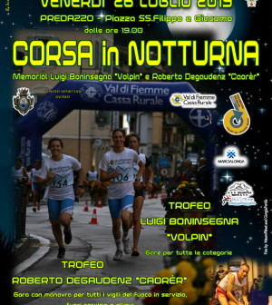 corsa notturna 2019 predazzo