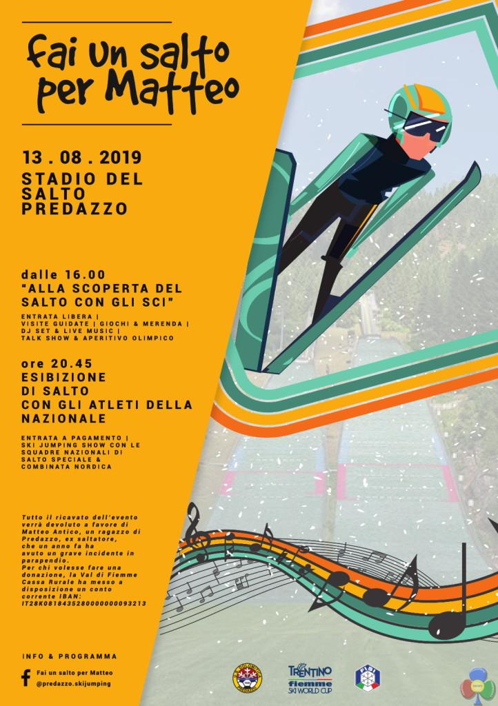 fai un salto per matteo 722x1024 Predazzo, 13 agosto inaugurazione del nuovo Trampolino HS66
