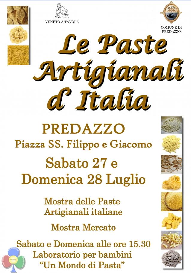 pasta Predazzo, MANIFESTAZIONI ESTIVE 2019