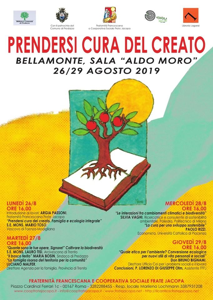 prendersi cura del creato convegno a bellamonte predazzo PRENDERSI CURA DEL CREATO 26 29 agosto a Bellamonte