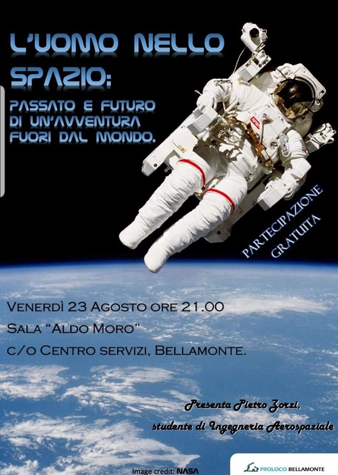 uomo nello spazio Bellamonte: Serata sulla storia dellesplorazione spaziale
