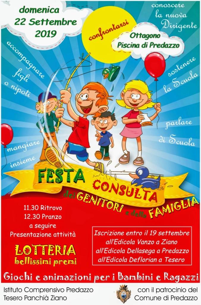 LOCANDINA FESTA CONSULTA 2019 676x1024 22 settembre Festa della Consulta e dei Genitori presso lOttagono di Predazzo