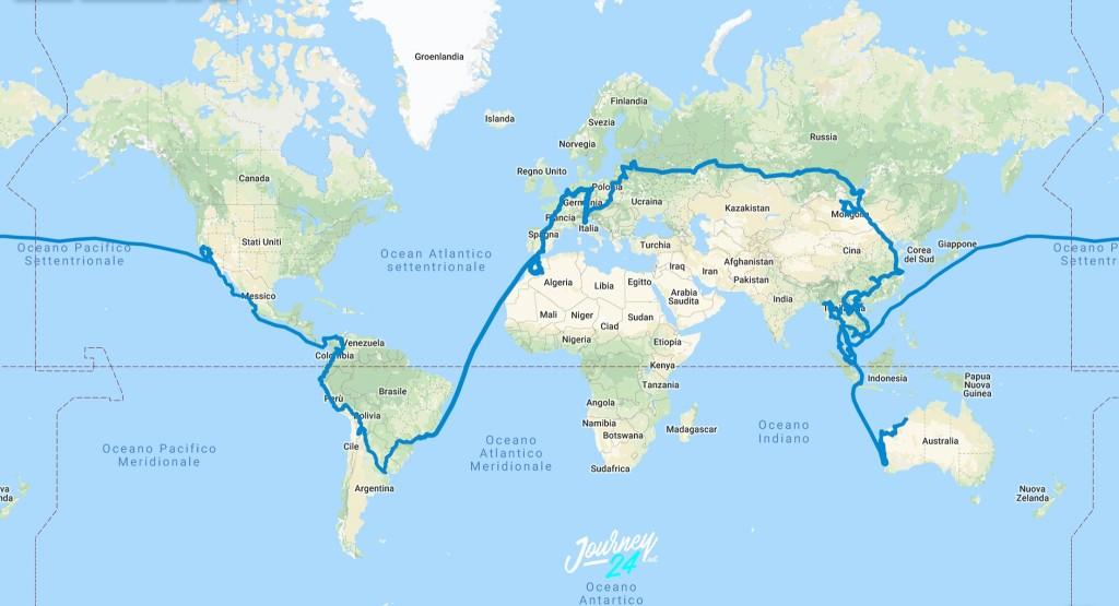 alessandro tomasi giro del mondo mappa 1024x555 Alessandro Tomasi racconta il suo giro del mondo