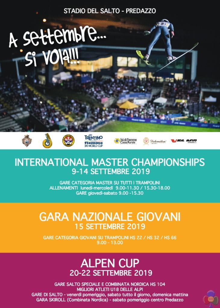 master championships predazzo 730x1024  Stadio del Salto Predazzo, Mondiali Master, Nazionale Giovani e Alpen Cup