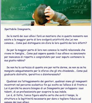 spettabile insegnante