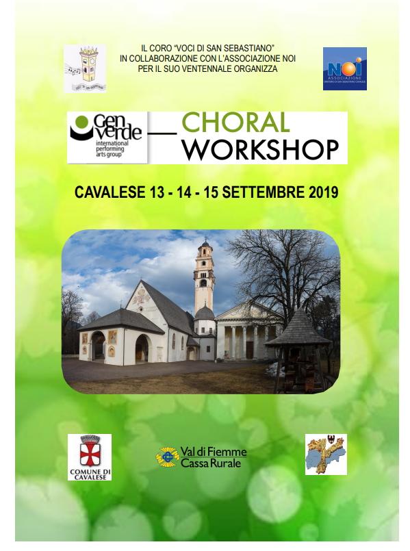 workshop genverde cavalese 2019 Avvisi Parrocchie 8 15 settembre 2019