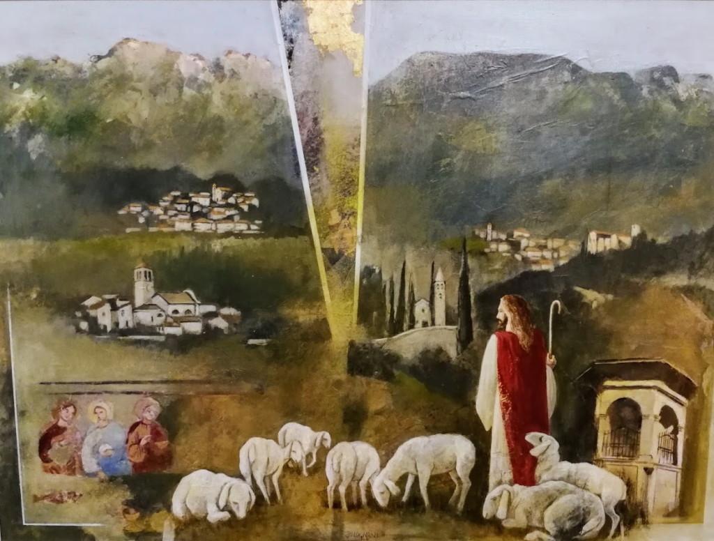 quadro donato a don bruno morandini nuovo parroco di cavedine 1024x776 Avvisi Parrocchie 29 settembre 6 ottobre