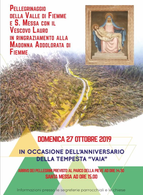 tempesta vaia fiemme addolorata Avvisi Parrocchie 20 27 ottobre 2019   Saluto di suor Delia Guadagnini