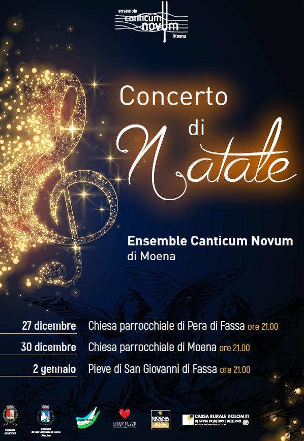 concerto natale canticum novum 2019 Orari S. Messe di Natale 2019 Fiemme e Fassa. Avvisi