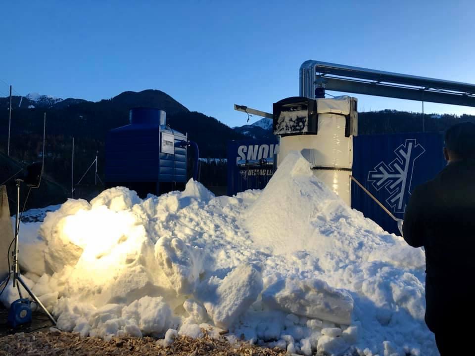 neve x enne beatrice calamari Val di Fiemme: neve programmata dagli scarti del bosco