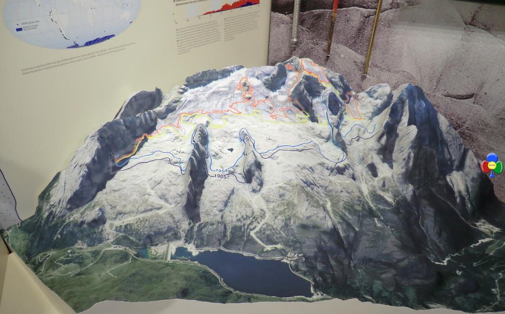 ritiro ghiacciaio marmolada storico 1024x636 LUniversità di Padova ricorda due illustri Predazzani
