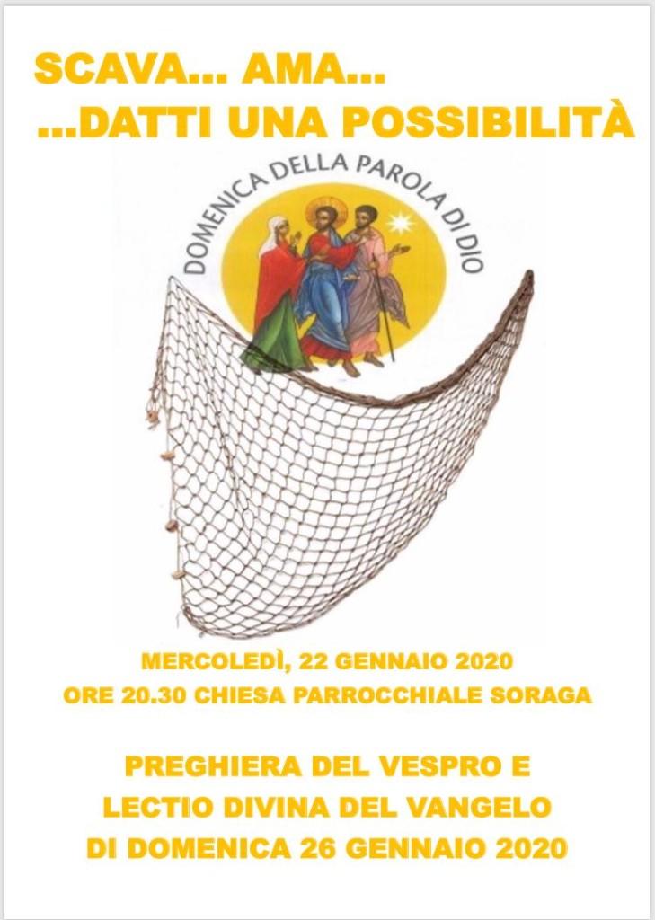 DOMENICA DELLA PAROLA 729x1024 Avvisi Parrocchie 9 26 gennaio 2020