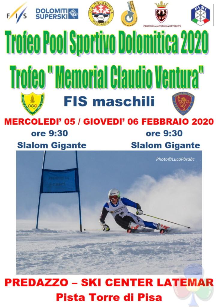 memorial claudio ventura 2020 720x1024 SCI: Trofeo Dolomitica e Memorial Ventura allo Ski Center Latemar