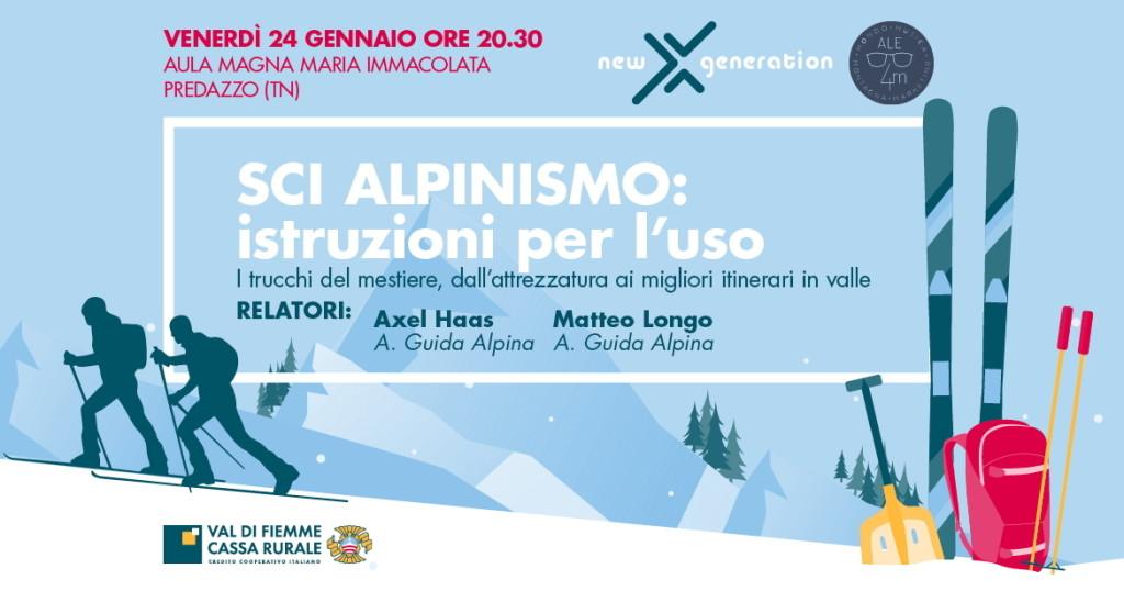 serata sci alpinismo1 1024x548 PREDAZZO   Serata per lo scialpinismo con Axel e Matteo