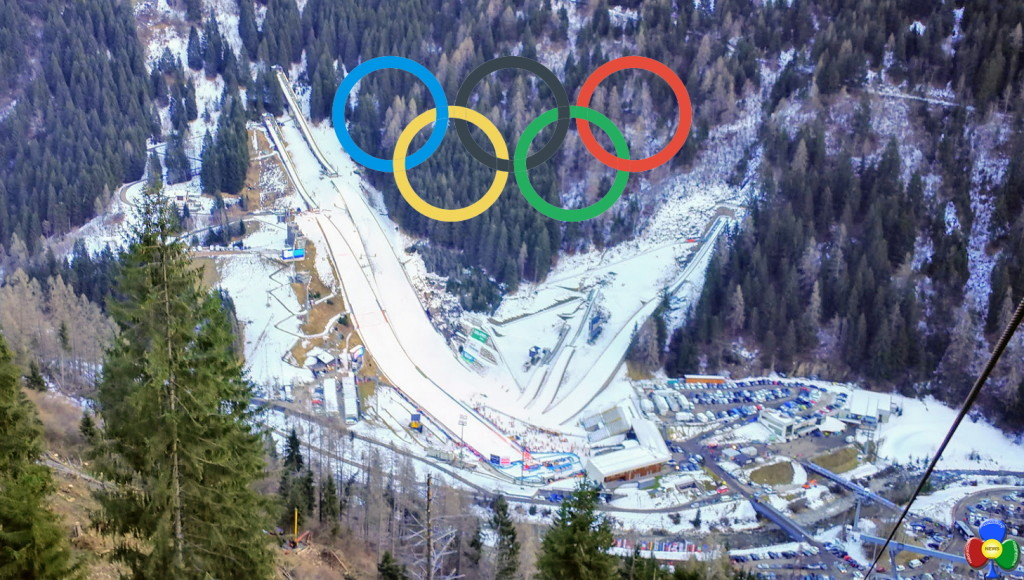 stadio del salto predazzo fiemme cerchi olimpici 1024x580 Il boom del salto con gli sci che adesso parla italiano