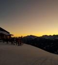 trentino ski sun rise predazzo