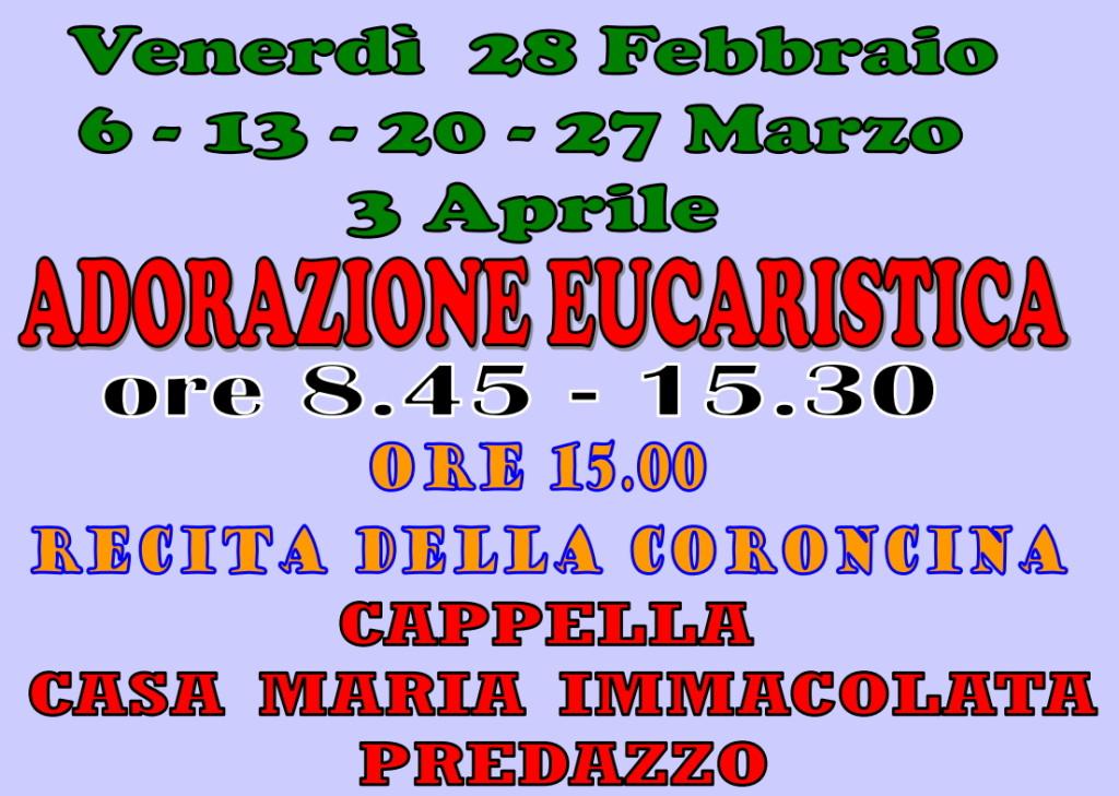 adorazione predazzo quaresima 1024x729 Avvisi Parrocchie 1 8 marzo
