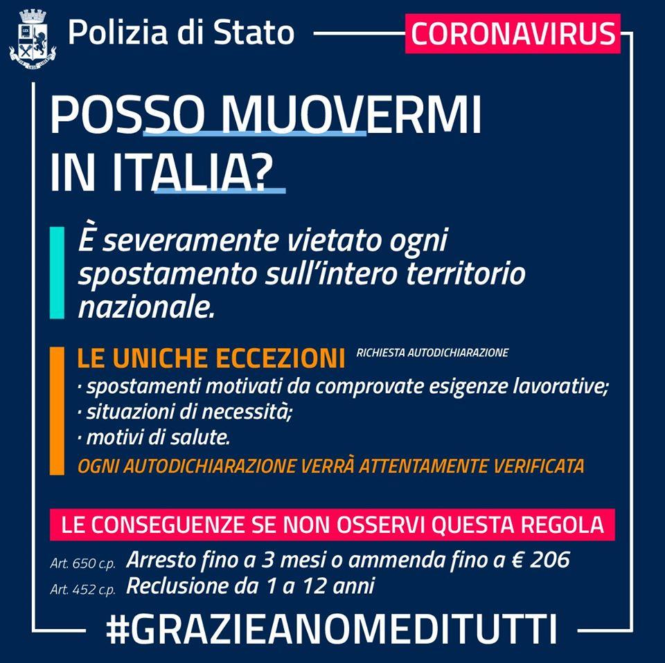 coronavirus italia Coronavirus, il modulo di autocertificazione per gli spostamenti