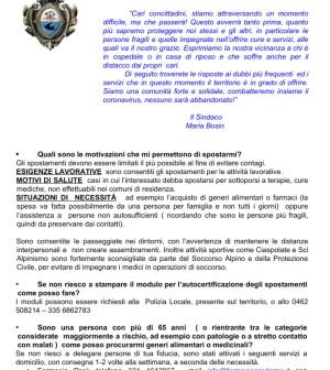 coronavirus lettera sindaco maria bosin ai concittadini