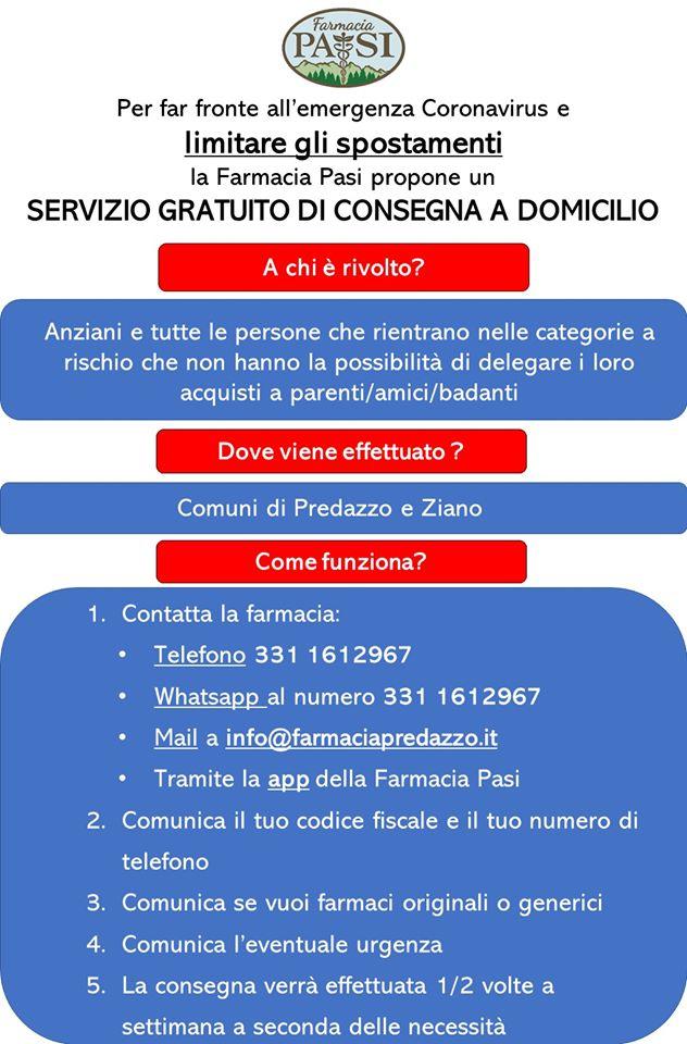 servizio consegna domicilio medicinali predazzo Chiusura centri di raccolta rifiuti all'utenza domestica in Valle di Fiemme + altre info