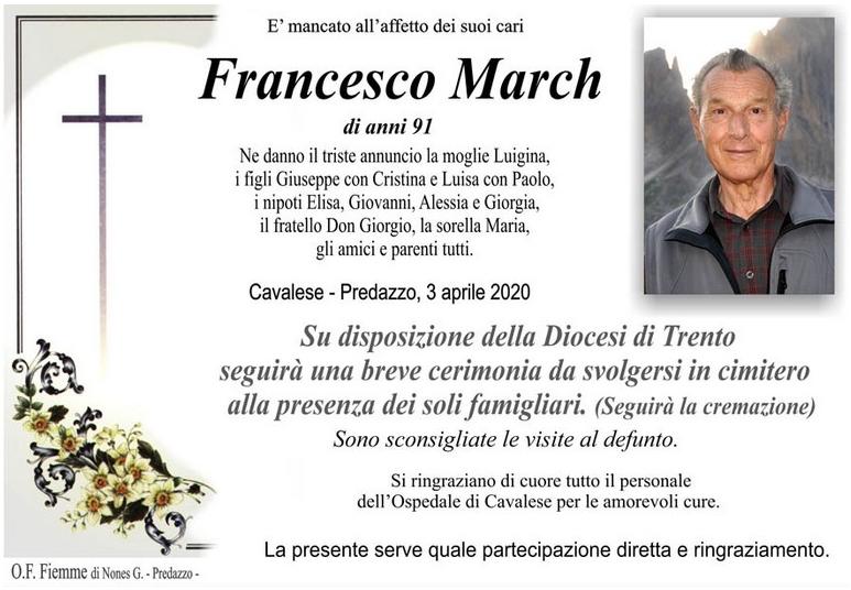 francesco march Settimana Santa e Pasqua 2020, orari e trasmissioni radio e web