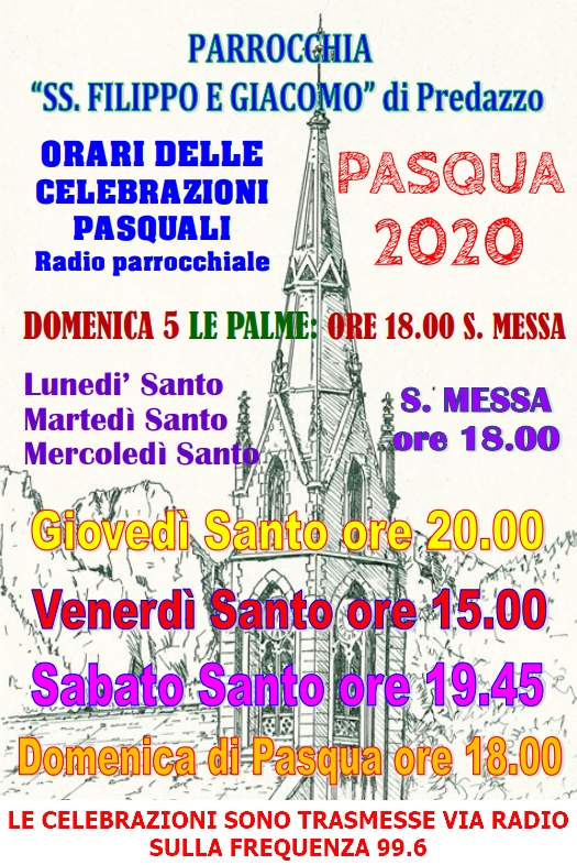 orari messe settimana santa1 Settimana Santa e Pasqua 2020, orari e trasmissioni radio e web