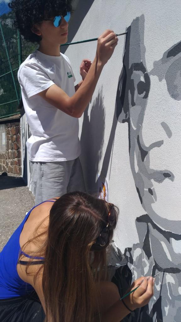 %name Predazzo, i murales della cultura in via di Pra Maor