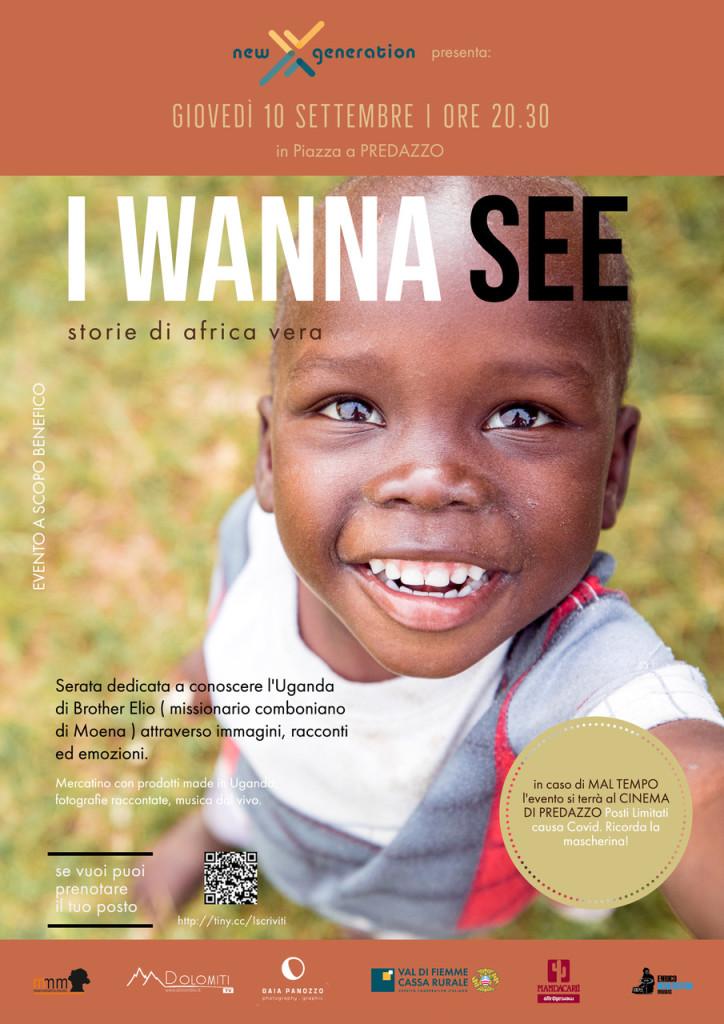 i wanna see predazzo 724x1024 I wanna see: Storie di Africa vera   Predazzo 10 Settembre ore 20.30