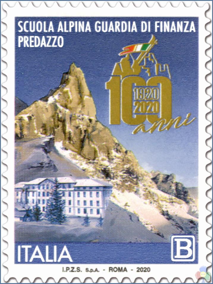 francobollo guardia di finanza predazzo Emissione francobollo Scuola Alpina della Guardia di Finanza di Predazzo